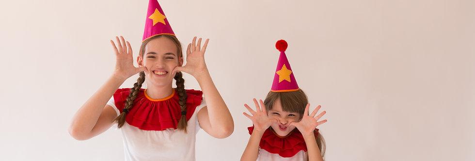 ערכה זוגית -אמא ובת - כובעי ליצן