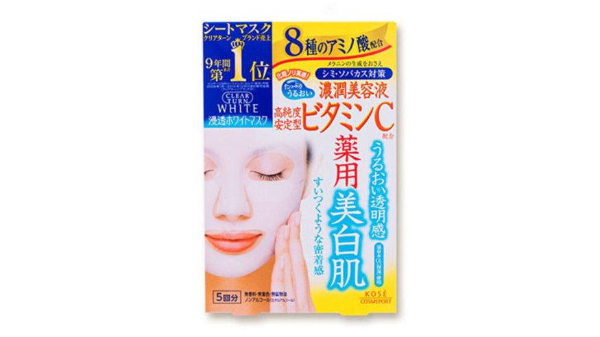KOSE CLEAR TURN WHITE VITAMIN C MASK Mặt Nạ Dưỡng Da Vitamin C