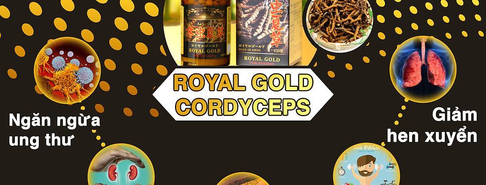 ROYAL GOLD CORDYCEPS (Đông Trùng Hạ Thảo Hoàng Gia Nhật Bản)