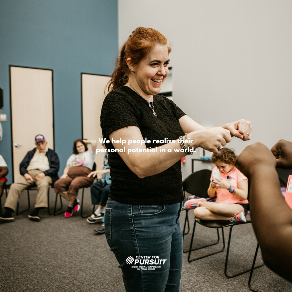 Lainie teaching at The Center For Pursuit