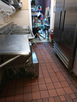 New flooring in Kitchen of clubhouse