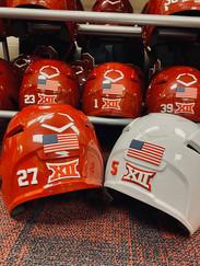 American Flag and Custom Back of Helmet Decals