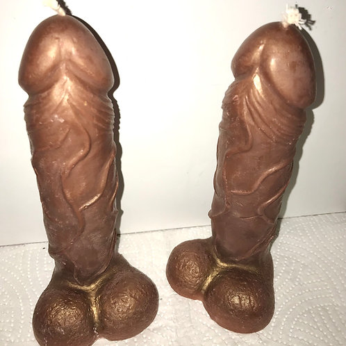 Large Chocolate Penis Candle