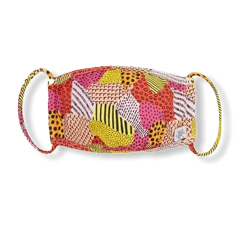Adult Face Mask - Wild Patchwork