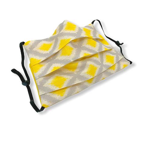 Adjustable Face Mask - Lattice Yellow