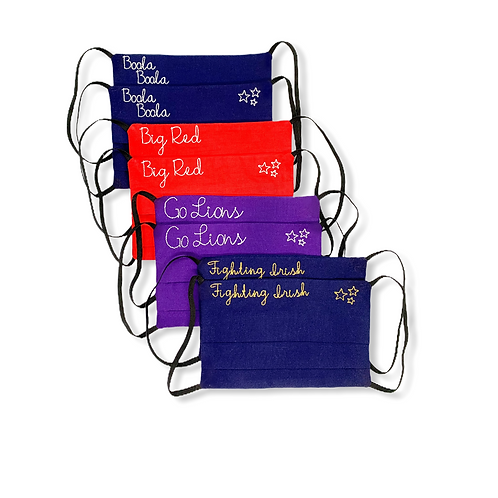 College Face Masks - Customized to Show School Pride