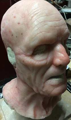 Old age prosthetic mask no hair