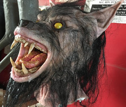 Animatronic wolf head