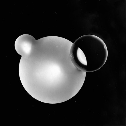 Numious Spheres 4, 2021, photogram, wooden frame, 370 x 357mm, NorthArt May 2021