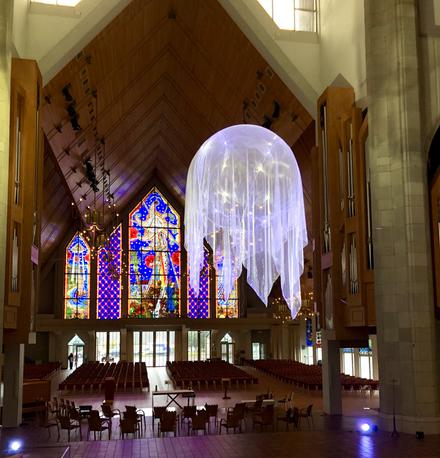 Awakenings IV, 2021, installation, Holy Trinity Cathedral, Artweek Auckland 2020