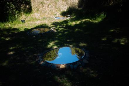 The Jewel Box, 2021, gold mirror discs 1