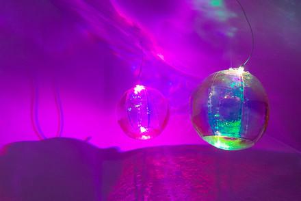 Numinous Spheres, 2020 installation Arthaus Contemporary Photo courtesy of Artsdiary.co.nz