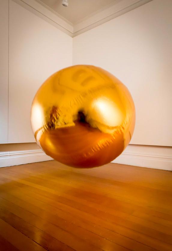 Numinous Spheres (Gold), 2020 installation