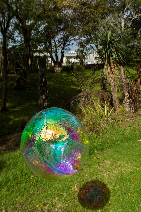 Numinous Spheres (rainbow),2020 installation