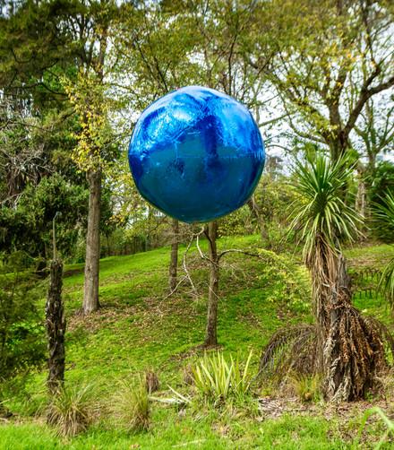 Awakenings series (blue foil), 2020, installation