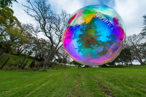 Numinous Spheres (Rainbow), 2020 installation