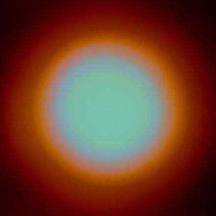 Numinous Spheres (Deep orange), 2021,  Lumen