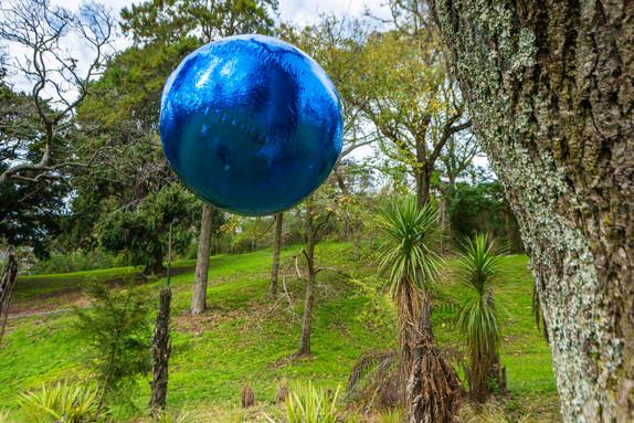 Numinous Spheres (blue), 2020 installation