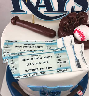 Tampabay Rays Birthday Cake