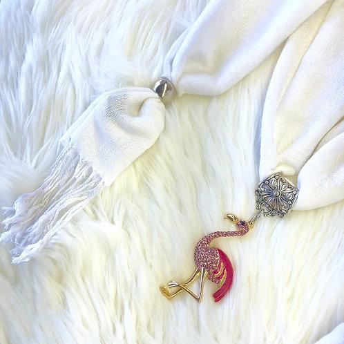 Eyanatia Lightweight Flamingo Pashmina Jewelry Scarf