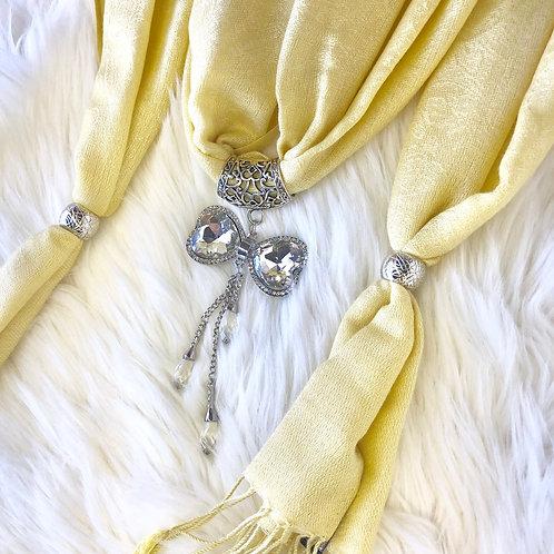Eyanatia Lightweight Bow Pashmina Jewelry Scarf