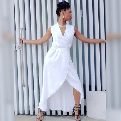 Eyanatia Sassy White Tulip Dress