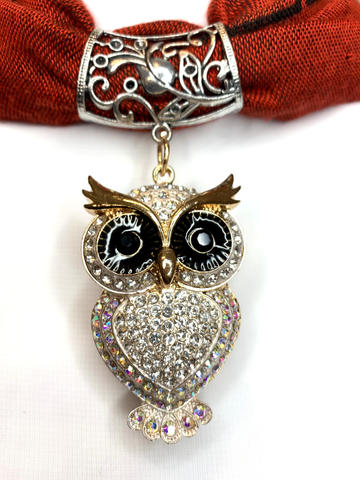 gold crystal owl