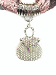 iridescent designer purse