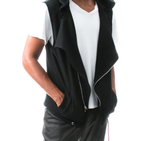 Eyanatia Asymmetrical Hooded Vest