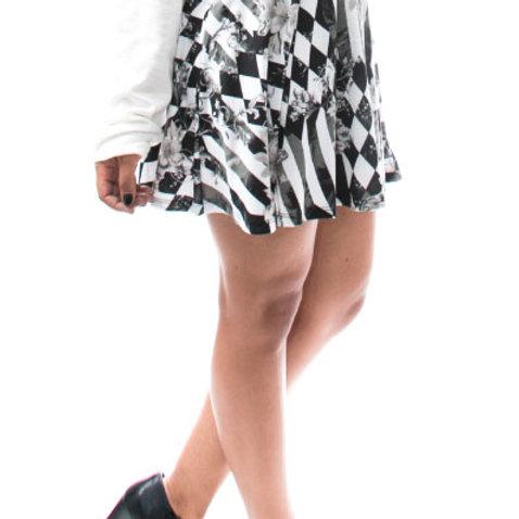 Eyanatia Mini Shades of Gray Skirt