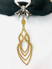 gold crystal drape