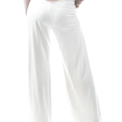 Eyanatia Cream Wide Leg Flood Pant