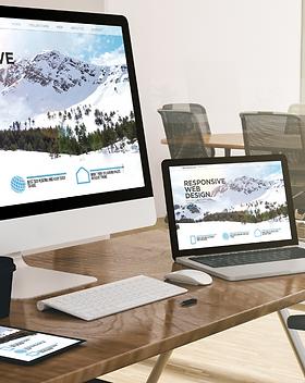 Visuel de prestation de création de site internet et de webdesign.