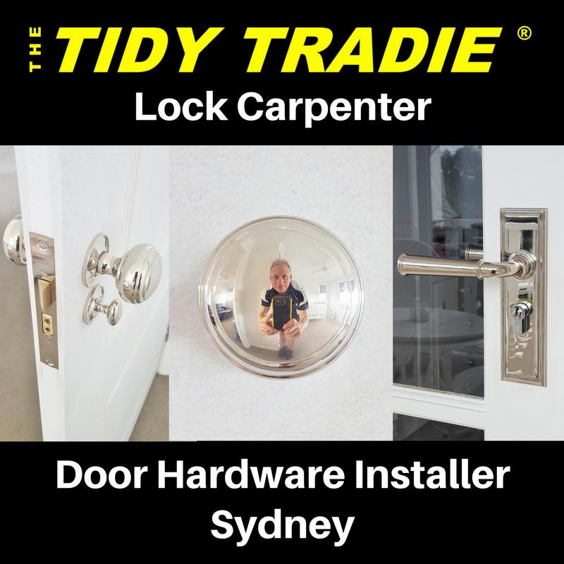 Sydneys one and only Lock Carpenter. Door hardware installer