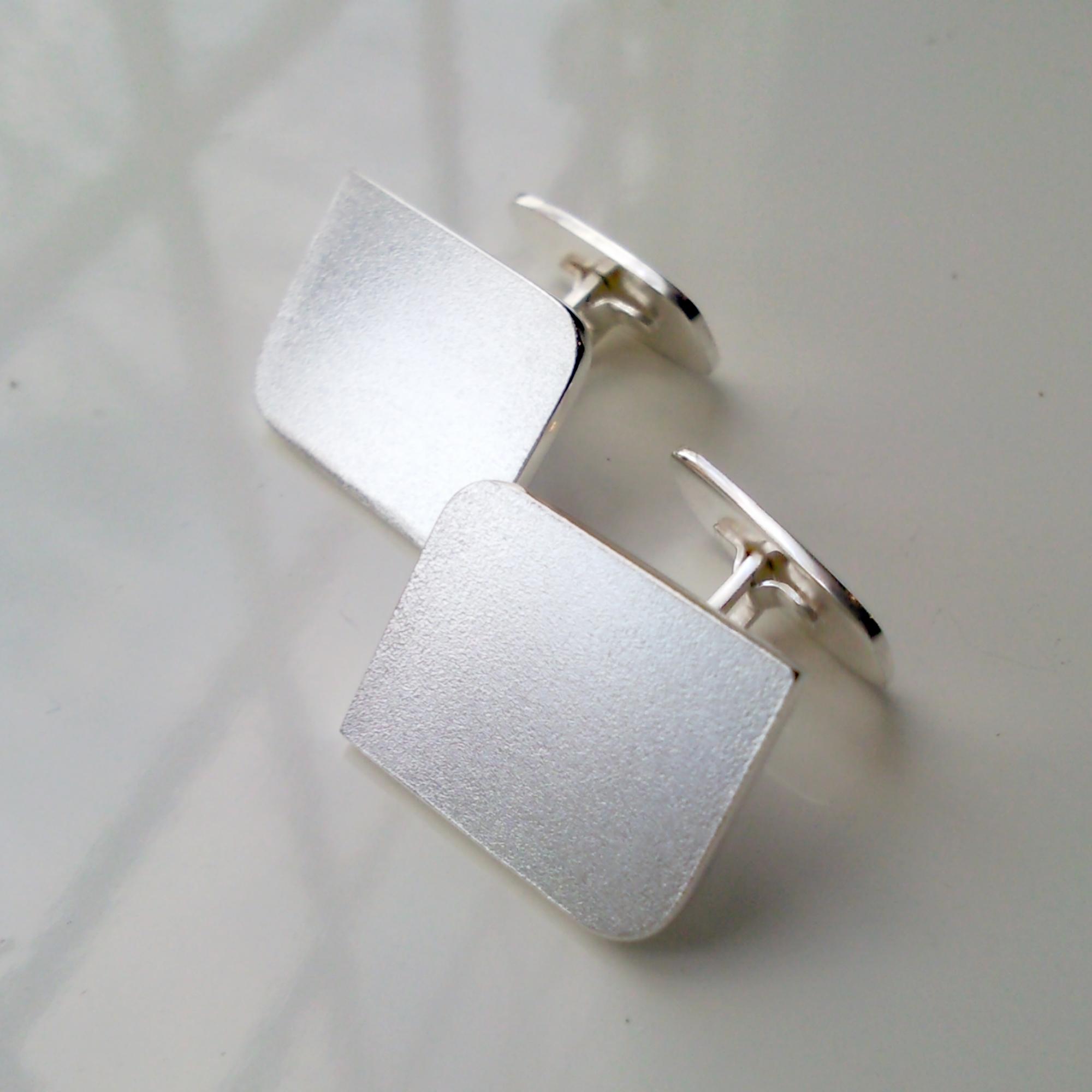 Manschettknappar, silver