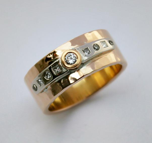 18 K diamantring