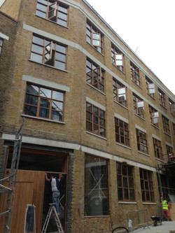 Large glass fitting project London
