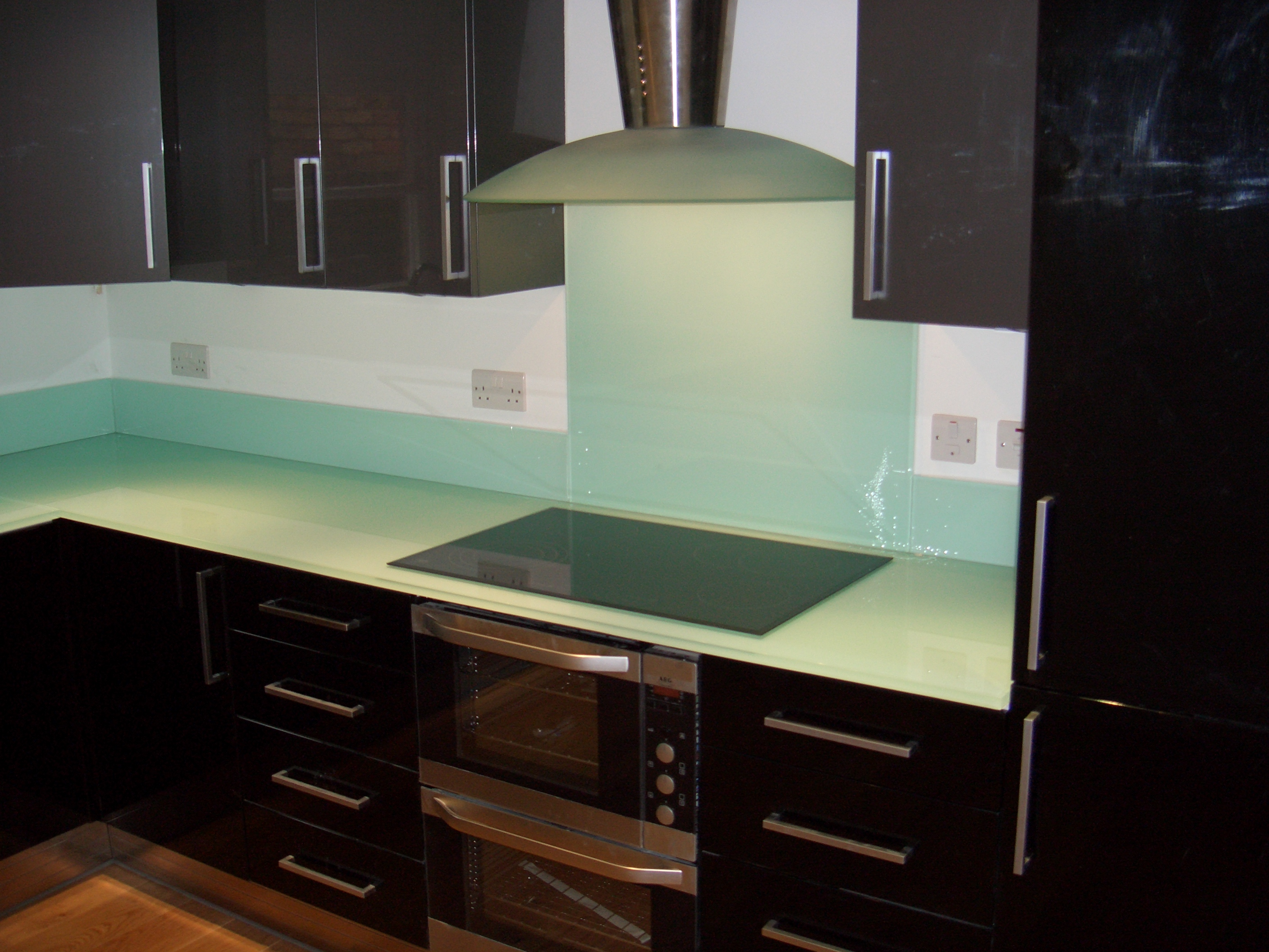 Painted Glass Splash Back