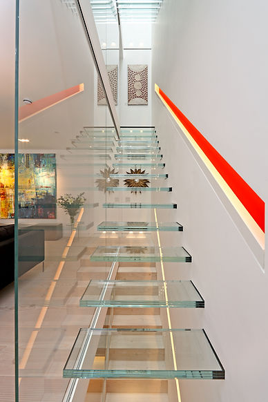 glass staircase london