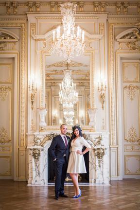 An intimate wedding in the Shangri-la Paris
