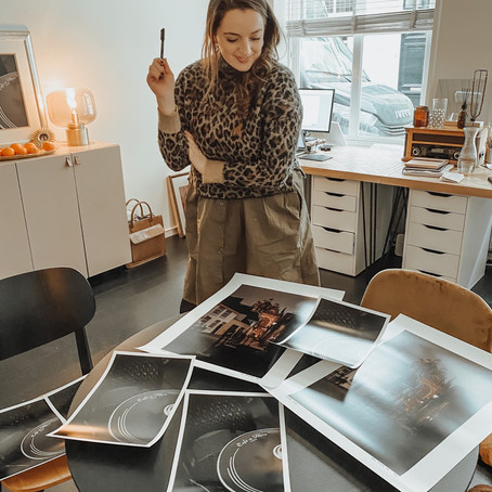 Signing Photo Prints