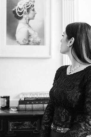 A portrait of soprano Marcelina Beucher