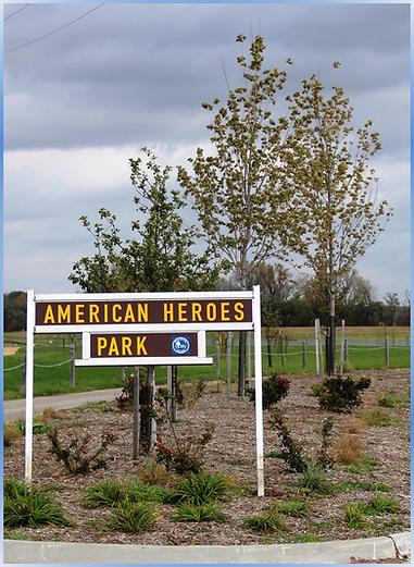 American Heroes Park Entrance