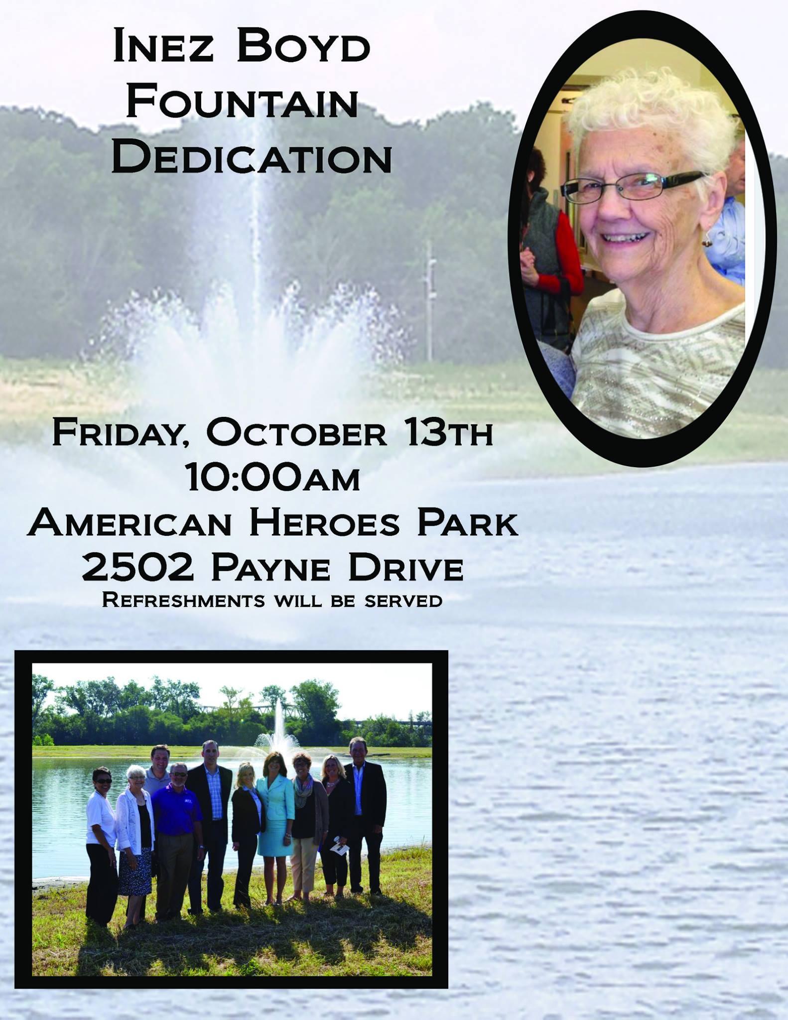 Inez Boyd Fountain Dedication