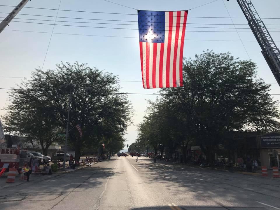 Arrows to Aerospace Parade Flag
