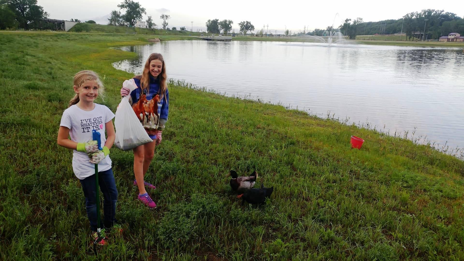 Litter Around the Pond