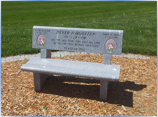 Glover and Davis Memorial Bench