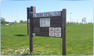 Al Thrower Football Field Sign