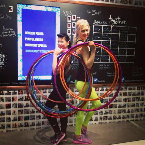 Teaching Hula Hoop at Niketown