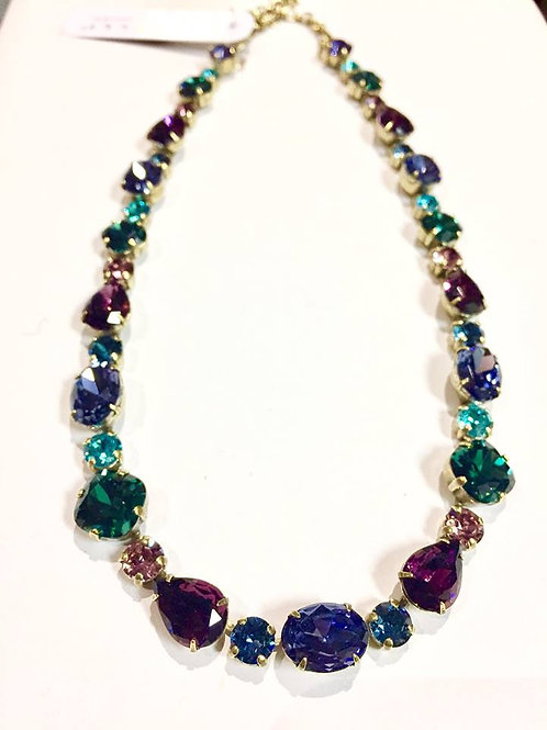 Sorrelli, necklace, jewel tone, adjustable